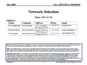 May 2006 doc IEEE 802 11 060662 r
