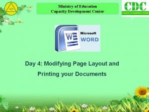 Ministry of Education Capacity Development Center Day 4