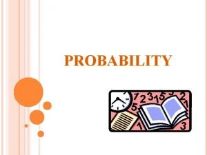 PROBABILITY PROBABILITY Probability is to occur For is