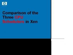 Comparison of the Three CPU Schedulers in Xen