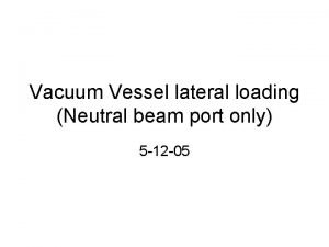 Vacuum Vessel lateral loading Neutral beam port only