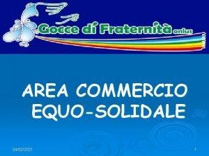 Introduzione AREA COMMERCIO EQUOSOLIDALE 24022021 1 Introduzione Obiettivi