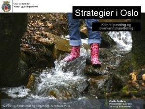 Strategier i Oslo Klimatilpasning og overvannshndtering Workshop Fredrikstad