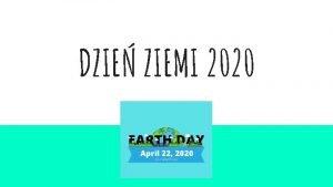 DZIE ZIEMI 2020 Skd si bior zanieczyszczenia W