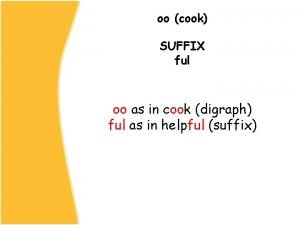 oo cook SUFFIX ful oo as in cook