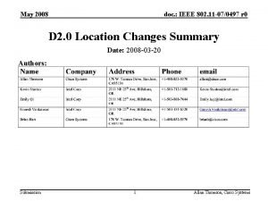 May 2008 doc IEEE 802 11 070497 r