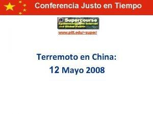 Conferencia Justo en Tiempo www pitt edusuper Terremoto