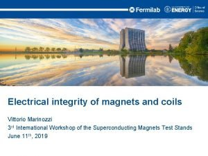 Electrical integrity of magnets and coils Vittorio Marinozzi
