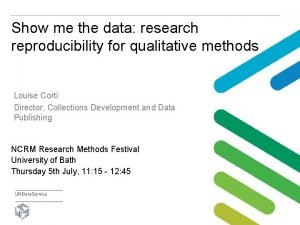 Show me the data research reproducibility for qualitative