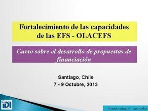 Fortalecimiento de las capacidades de las EFS OLACEFS