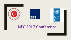 NEC 2017 Conference NEC 2017 Conference National Evaluation