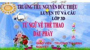 GIO VIN TRNG TH MINH NGUYT Th nm