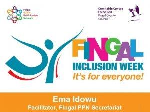 Ema Idowu Facilitator Fingal PPN Secretariat 1 Meeting