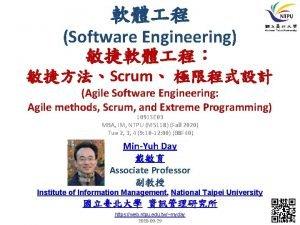 Software Engineering Scrum Agile Software Engineering Agile methods