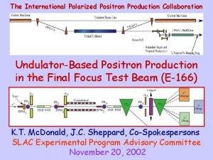 The International Polarized Positron Production Collaboration UndulatorBased Positron