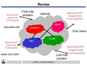 Review First mile problem Internet Sprint www yahoo