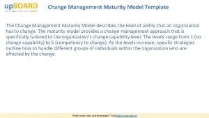 Change Management Maturity Model Template The Change Management