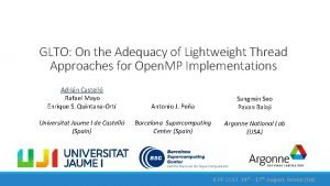 GLTO On the Adequacy of Lightweight Thread Approaches