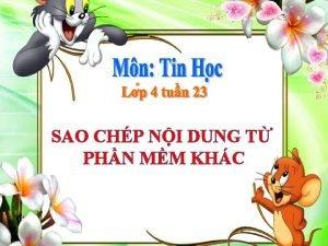 SAO CHP NI DUNG T PHN MM KHC