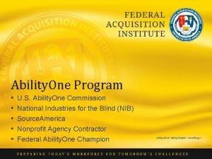 Ability One Program U S Ability One Commission