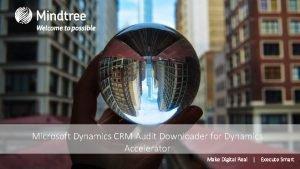 Microsoft Dynamics CRM Audit Downloader for Dynamics Accelerator