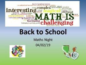 Back to School Maths Night 040219 Aim helping