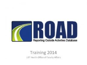 Training 2014 USF Health Office of Faculty Affairs