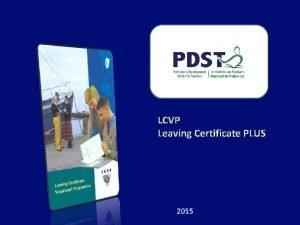 LCVP Leaving Certificate PLUS 2015 LEAVING CERTIFICATE VOCATIONAL
