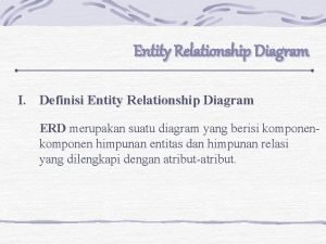 Entity Relationship Diagram I Definisi Entity Relationship Diagram