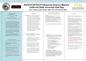 BIOSTATISTICS Professional Science Masters California State University East