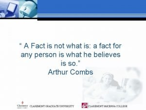 A Fact is not what is a fact