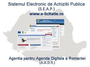 Sistemul Electronic de Achizitii Publice S E A