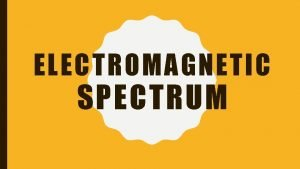 ELECTROMAGNETIC SPECTRUM ELECTROMAGNETIC SPECTRUM MOST energy This Photo