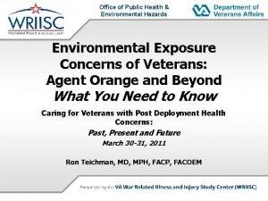 Office of Public Health Environmental Hazards Environmental Exposure