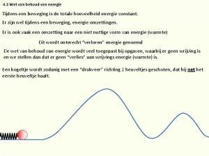 4 3 Wet van behoud van energie Tijdens