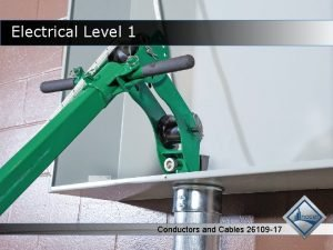 Electrical Level 1 Conductors and Cables 26109 17