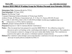March 2005 doc IEEE 802 15 05182 r