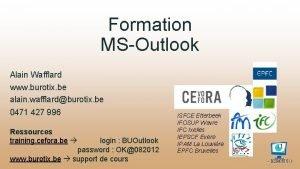 Formation MSOutlook Alain Wafflard www burotix be alain