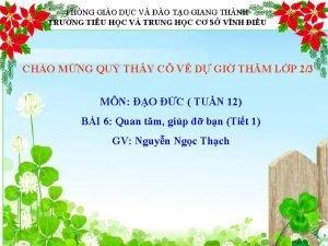PHNG GIO DC V O TO GIANG THNH