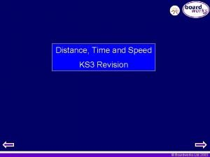 Distance Time and Speed KS 3 Revision Boardworks
