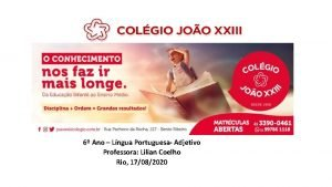 6 Ano Lngua Portuguesa Adjetivo Professora Lilian Coelho