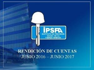 RENDICIN DE CUENTAS JUNIO 2016 JUNIO 2017 POBLACIN
