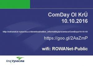Com Day OI Kr 10 2016 http extranet