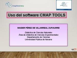 Uso del software CMAP TOOLS MAIDER PREZ DE