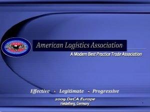 Effective Legitimate Progressive 1 ALA Mission Our mission