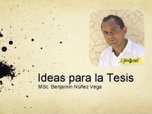 Ideas para la Tesis MSc Benjamn Nez Vega