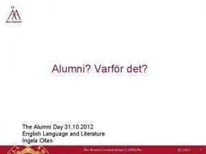 Alumni Varfr det The Alumni Day 31 10