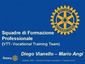 Squadre di Formazione Professionale VTT Vocational Training Team