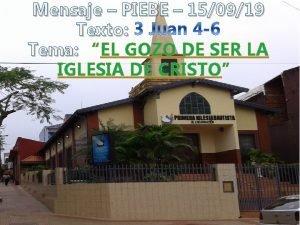 Mensaje PIEBE 150919 Texto Tema EL GOZO DE