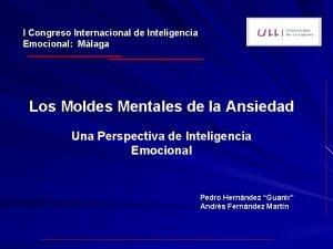 I Congreso Internacional de Inteligencia Emocional Mlaga Los